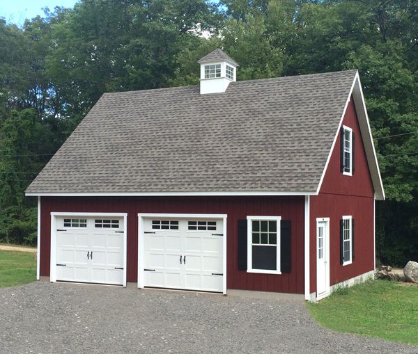 24 X 30 Elite Cape Garage T 1 11 Siding Window Upgrades Extra Shutters Door Upgrades Carriag Garage Plans With Loft Backyard Barn Garage Apartment Plans