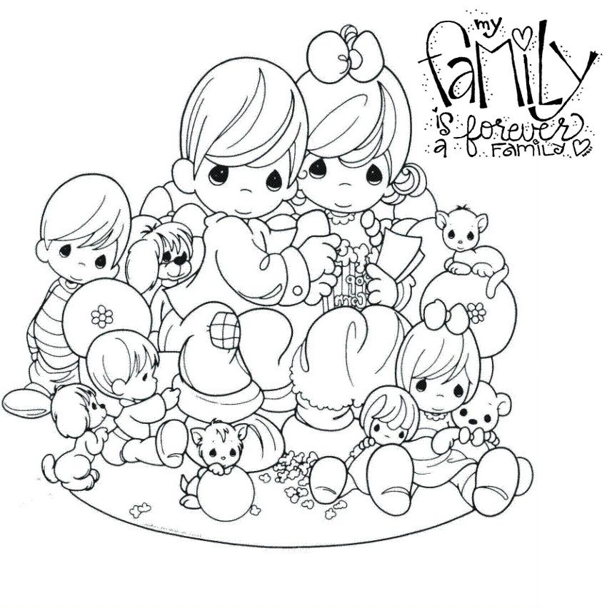 Forever Family Precious Moments Coloring Pages Family Coloring Pages Coloring Pages