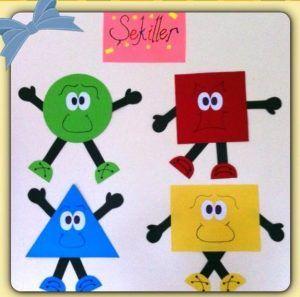 Shapes Bulletin Board Ideas Classroom Decorations For Kindergarten 6