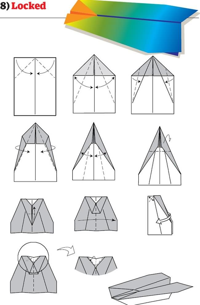 12 instructions pour plier des avions en papier originaux ...