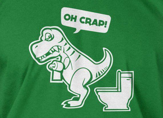Funny Dinosaur T-rex T Rex Tyrannosaurus T-Shirt - Oh Crap Geek dinosaurs  School Mens Ladies Womens 6d64c33243