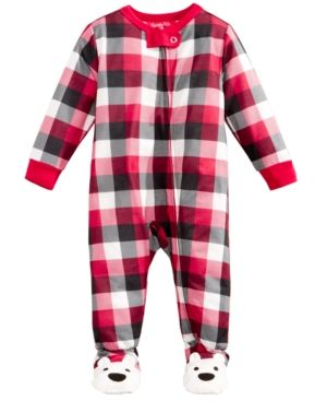 8a5e7f8033 Family Pajamas Baby Boys  or Baby Girls  Buffalo Plaid Footed Pajamas