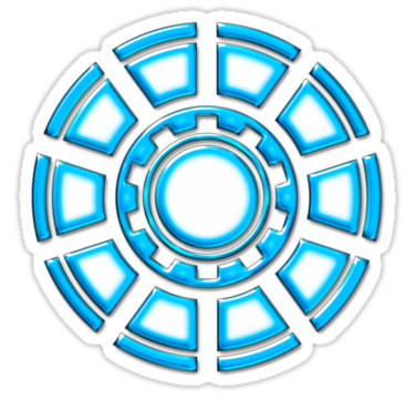 Arc Reactor Comic Hero Superheroes Sticker By Anne Mathiasz In 2021 Iron Man Tattoo Arc Reactor Iron Man Birthday