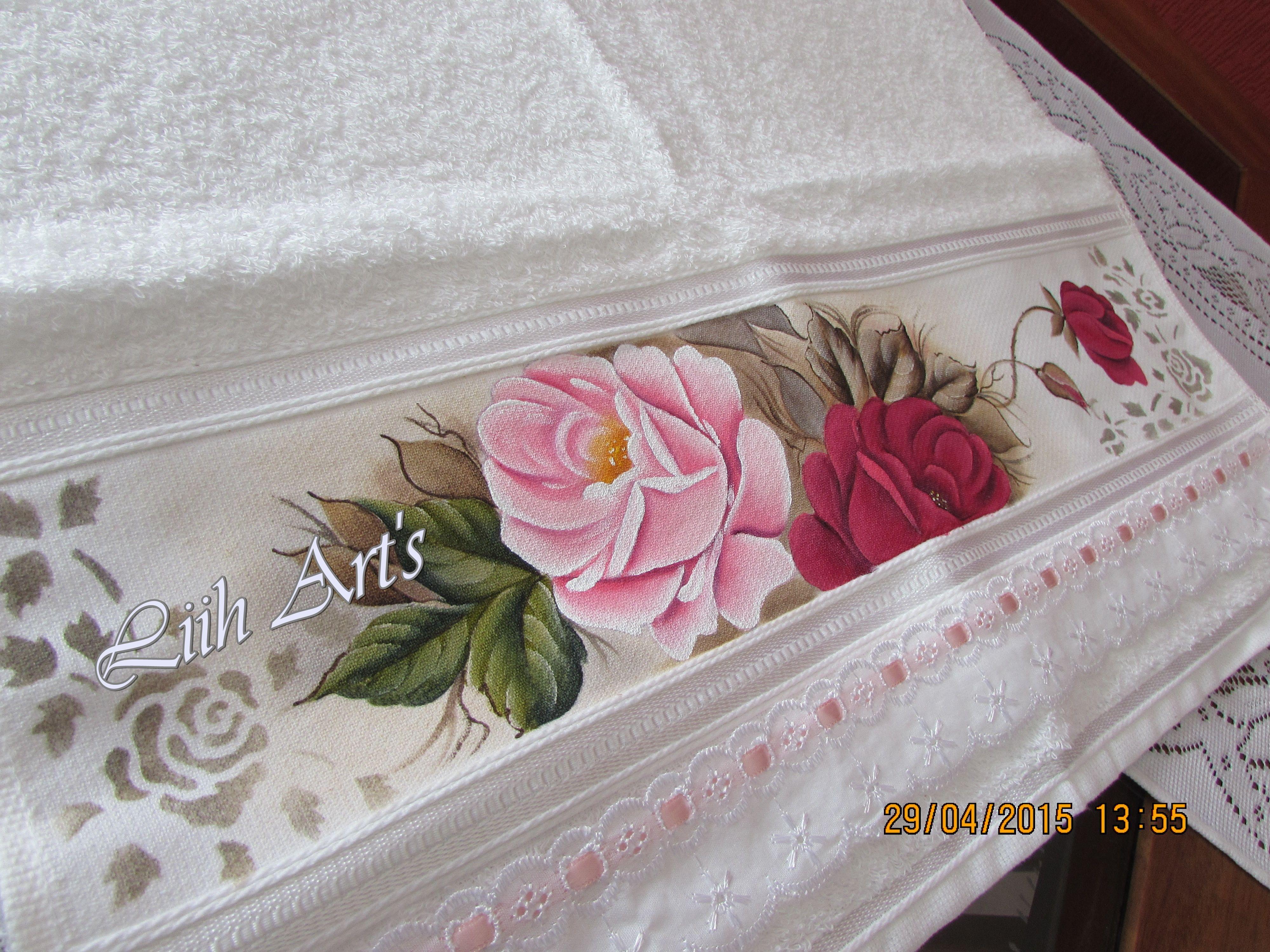 Pintura em toalhas pintura em tecido pinterest for Pintura para decoupage
