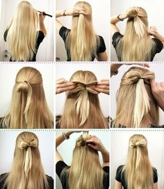 Pin By Hailey Jones On Cute Bow Hair Styles Bow Hairstyle Long Hair Styles