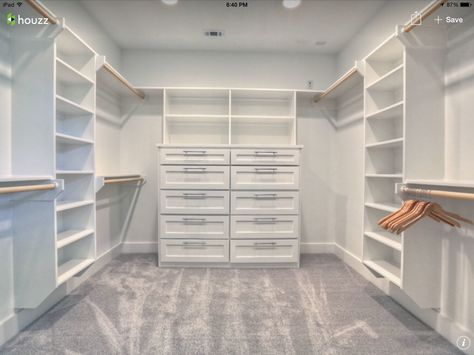 Master closet ideas walk in layout storage 16 Ideas