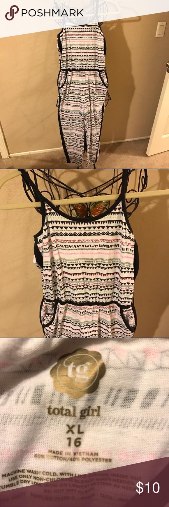 🎀Cute girls romper jumpsuit size XL 16 look🎀 Cute comfy romper total girl Dresses Casual