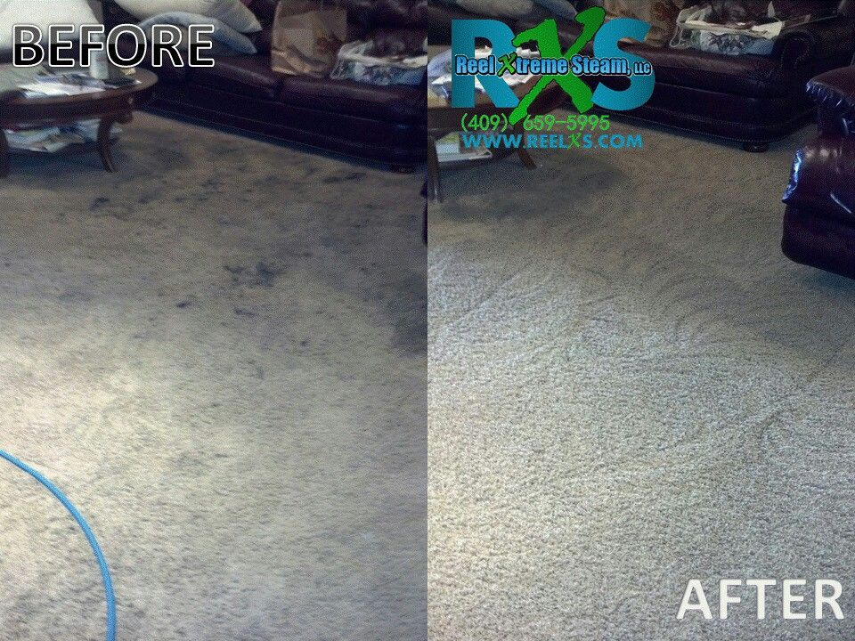 Before and after pictures of carpet cleaning. Rug