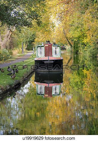 Photograph of England, Oxfordshire, Oxford. Autumn scene by the Oxford ...