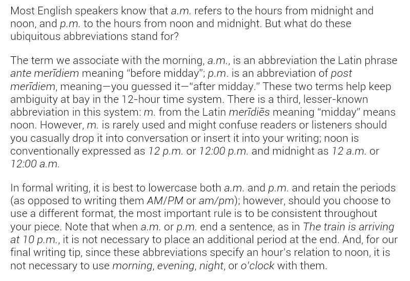 Grammer Meaning A M P M Abbreviations Writing Format Tips Latin Phrases Meant To Be Writing