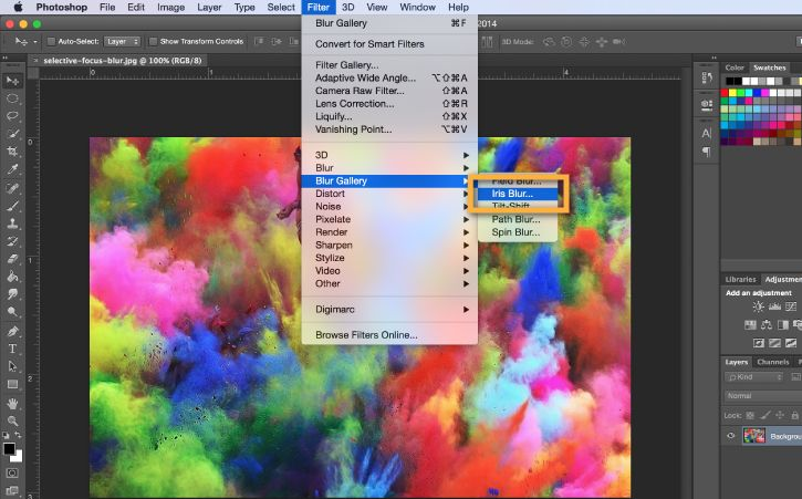 How to blur the background for a focal point in adobe