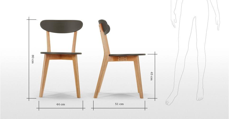 2 X Fjord Chaises Chene Et Gris Mobilier Design Pinterest
