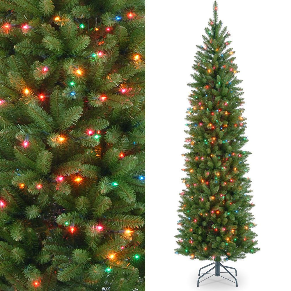 6.5ft PreLit Artificial Christmas Tree Fir 250 Multi Color Clear ...