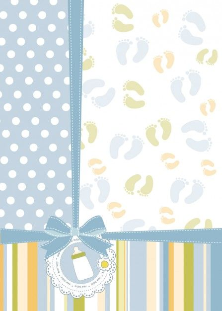 Download Babyshower Card With Feet Prints For Free Com Imagens
