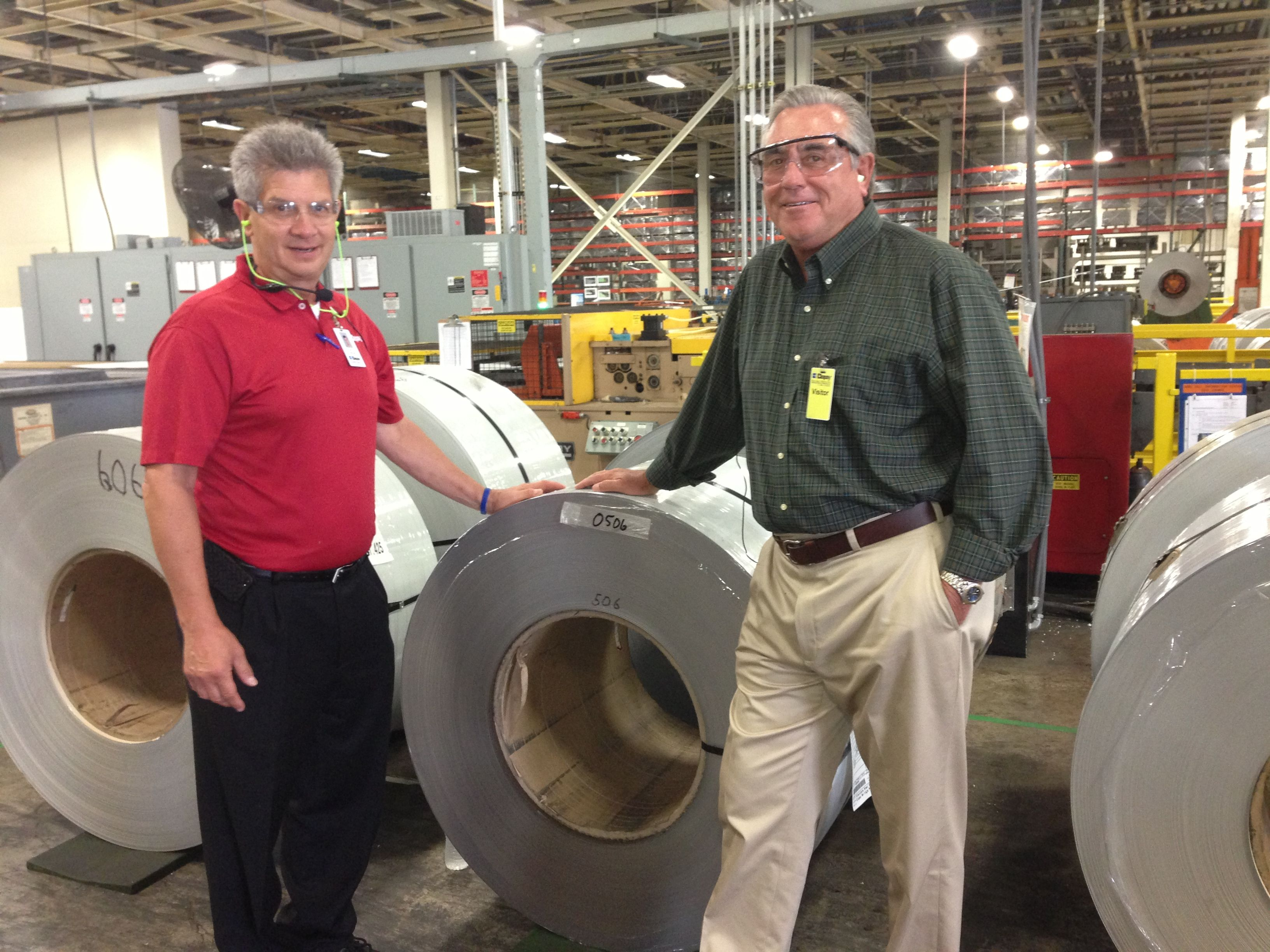 This Roll Of Steel Will Soon Be Transformed Into A Beautiful Clopay Garage  Door   Possibly For Your Home. With Radio Talk Show Host Gary Sullivan At  The ...