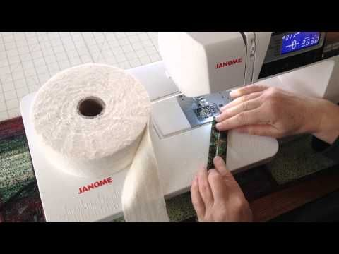 Filling Fabric Strips With Batting 1 Youtube Quilting
