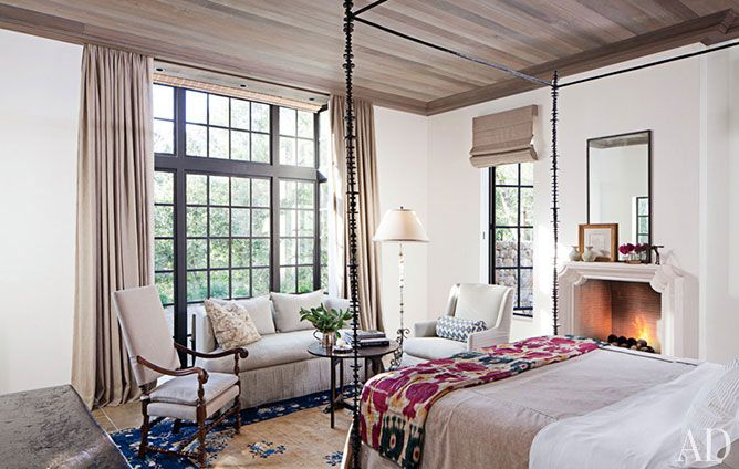 See How Bobby Mcalpine Transformed A Napa Valley Home Into A Refined Haven Home Beautiful Bedrooms Bedroom Fireplace