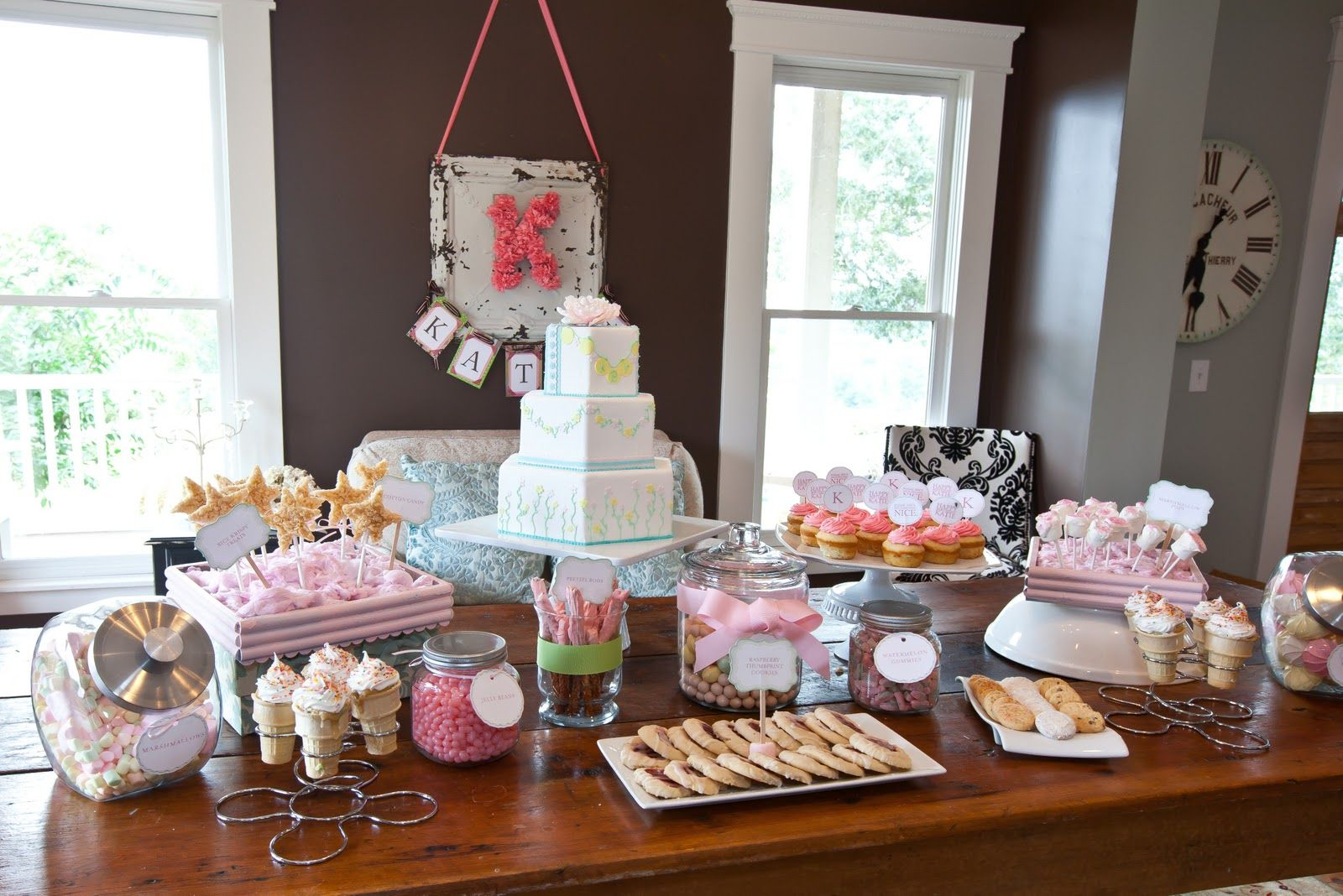 A little girls 2nd birthday partysugar and spice and
