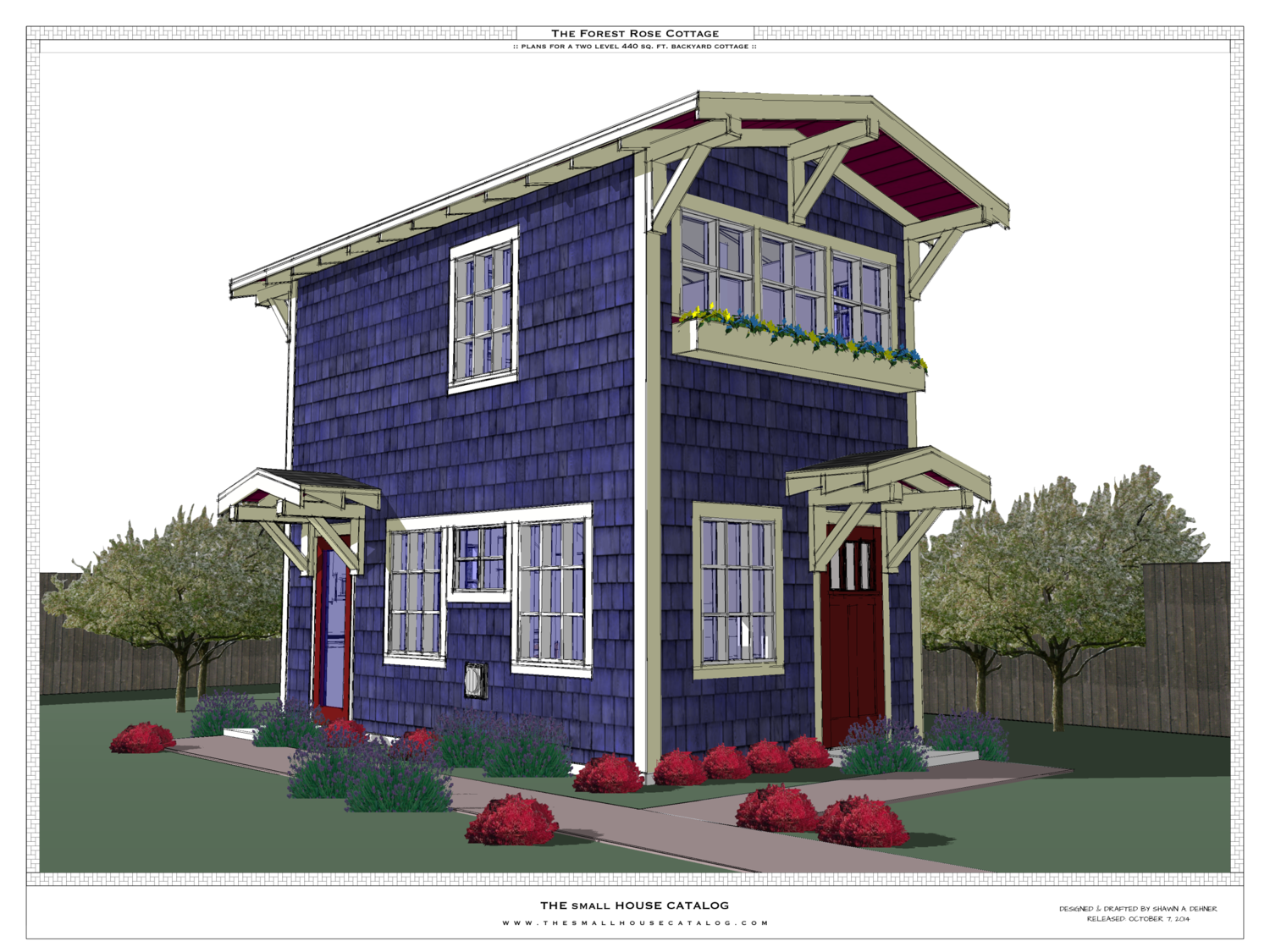 1 Beds 1 Baths 440 Sq Ft Plan 924 7: No. 7 - The Forest-Rose