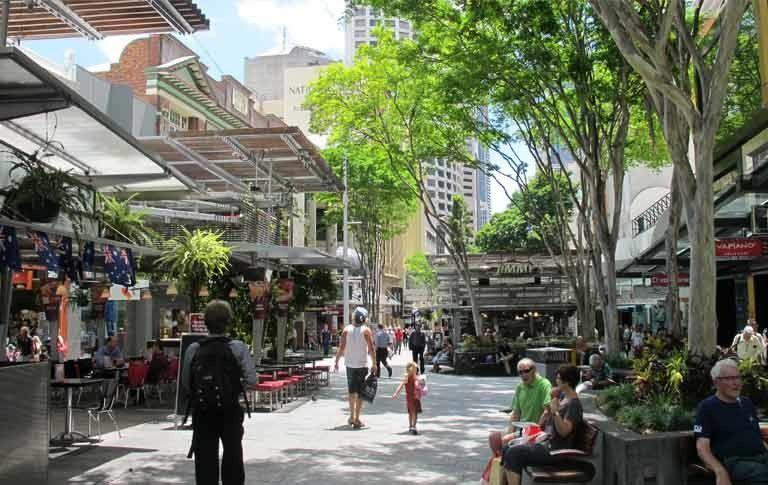 Queen Street Mall Brisbane Street Mall Commercial Street Outdoor Shopping
