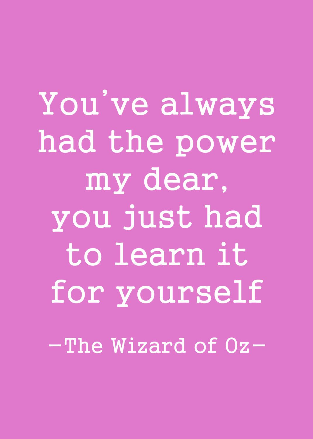 New To Serendipitycreate On Etsy Wizard Of Oz Quote Printable You