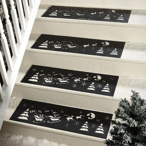 Best Christmas Stair Treads Lillian Vernon With Images 640 x 480