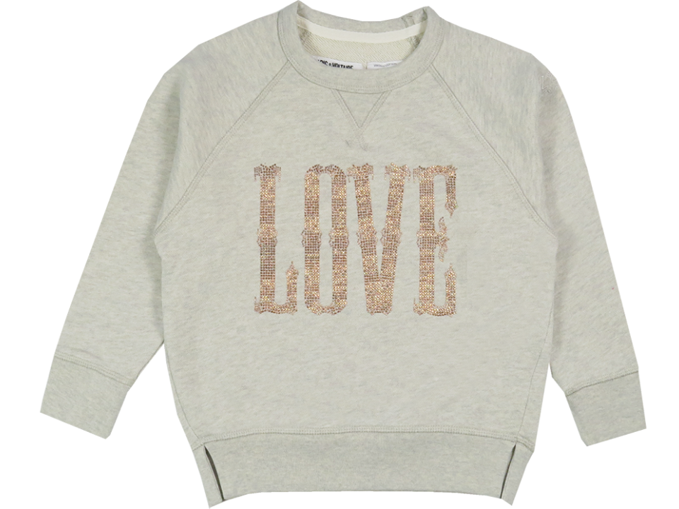 Zadig & Voltaire Kid Ola Sweatshirt LOVE