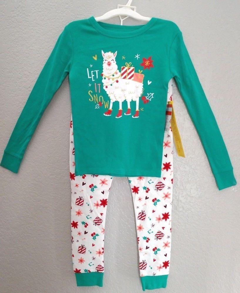 Carters Infant Boys Eat Sleep /& Be Jolly Fleece Santa Claus Christmas Pajamas
