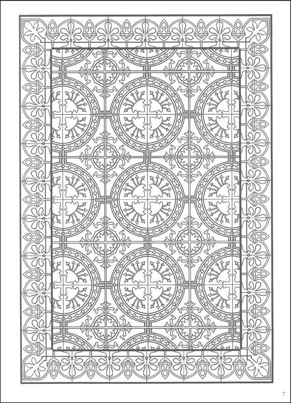 Pattern Coloring Sheets Printables : Decorative tile designs coloring book additional photo inside