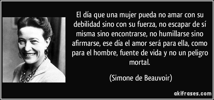 Simone De Beauvoir Frases Citas Imágenes Y Memes Simone