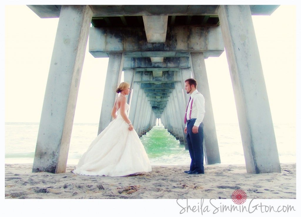 Married On The Beach Photo Under Pier Dinner At Fin S Perfect Wedding Venice Florida