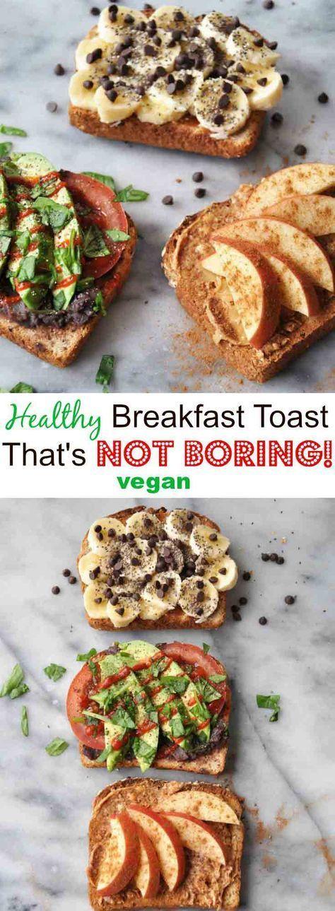 healthy vegan breakfast toast that isn't boring
