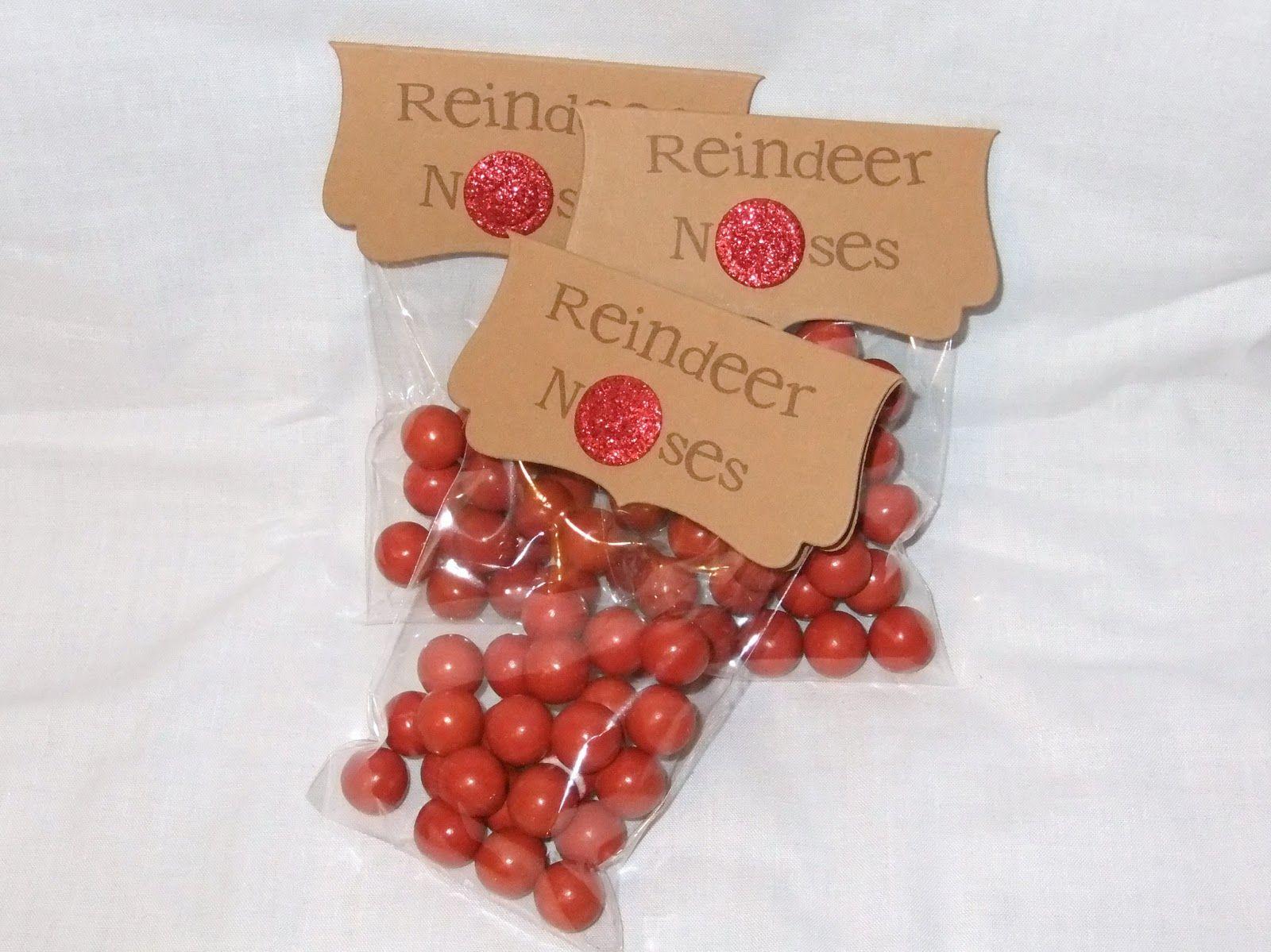 Christmas T Idea Reindeer Noses Sweetie Bags