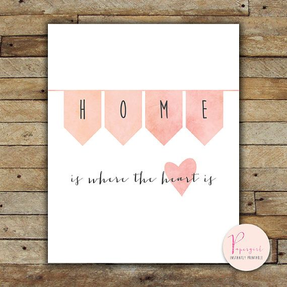 Printable Instantly Wisdom words Home is where by PapergirlPrints, $5.00