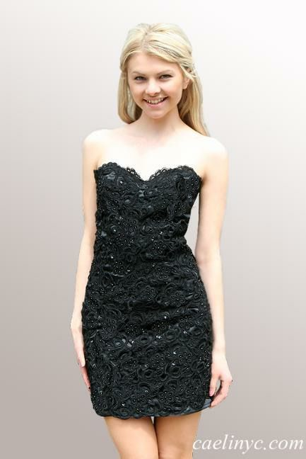 CaeliNYC Le Jardin Collection - Ready to wear, fully beaded black dress