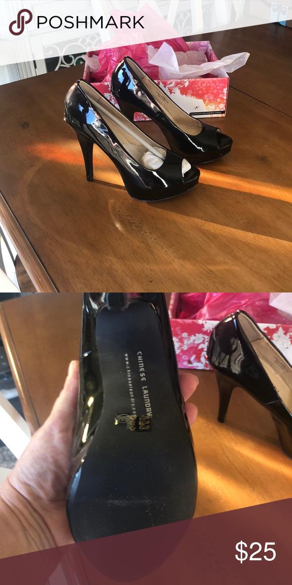 Shoes Chinese Laundry Nib No Shoebox Lid Size 8 5 Black Patent