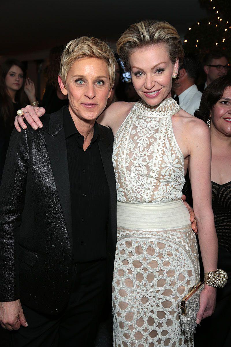 Post Oscars Governors Ball 2014 Gov Ball Vanity Fair Oscar Party Ellen Degeneres And Portia