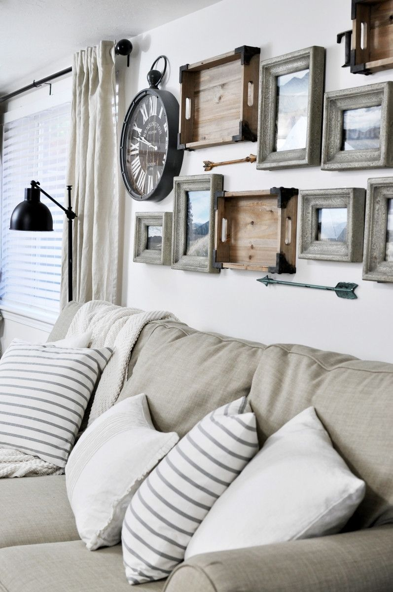 ad Vintage looking gallery wall - Gallery wall with arrows gray ...