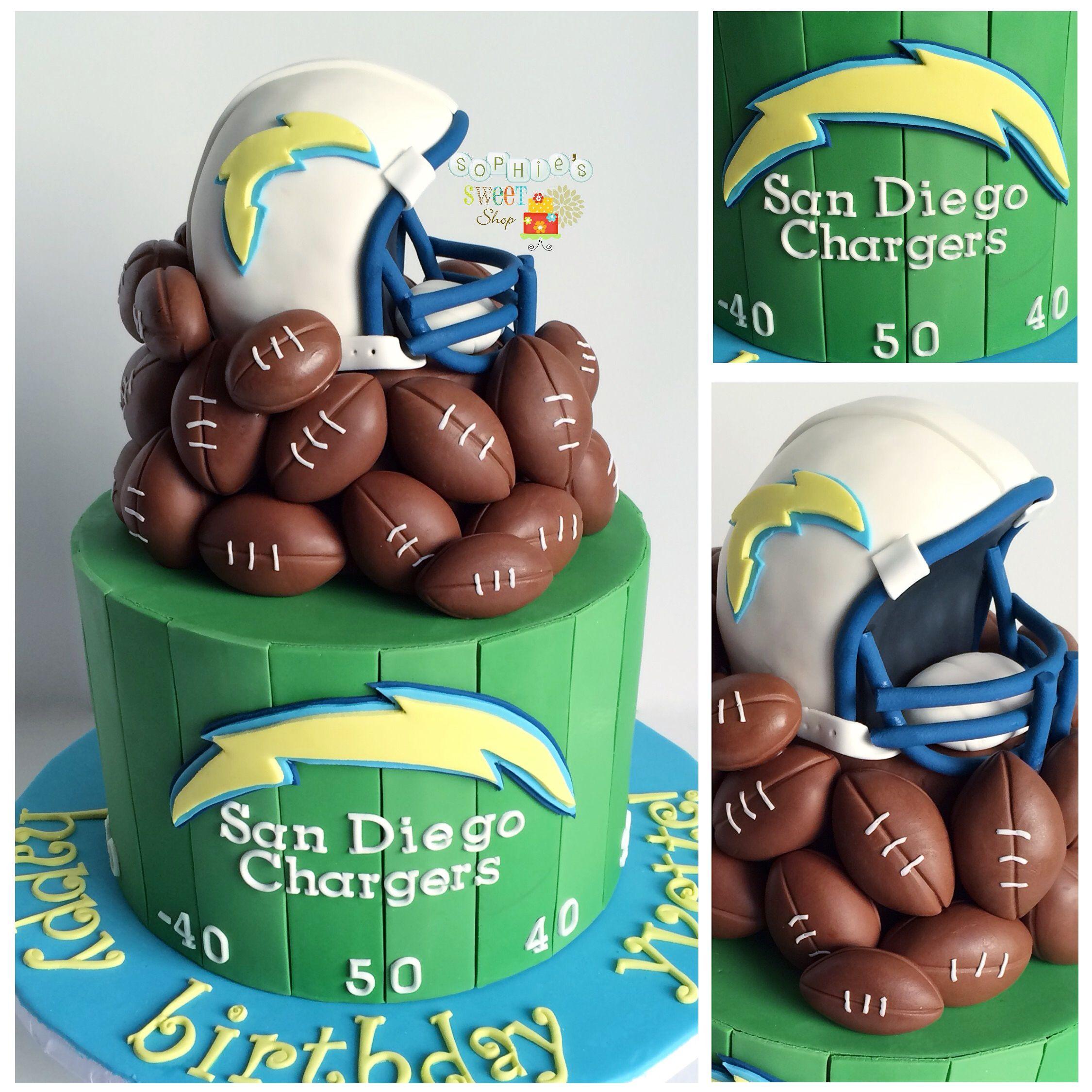 chargers cake \ football cake [instagram: @sophiesweetshop ...