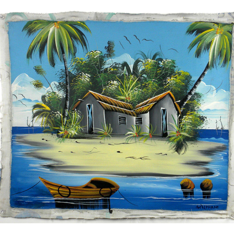 Galeria Dominican Republic: Haitian Acrylic Painting On Canvas - Haiti