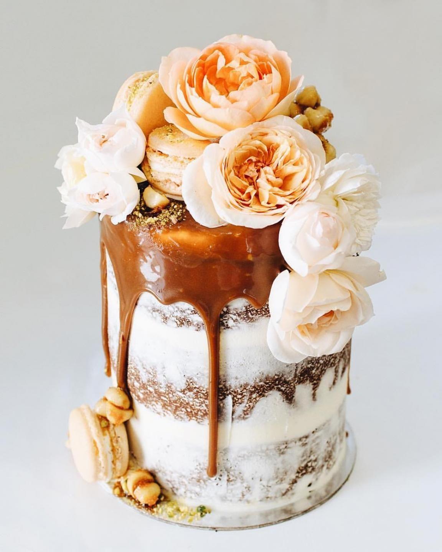 Sunshine Cruz Wedding Gown: Caramel Drip Cakes / TOME / Wedding Style Inspiration