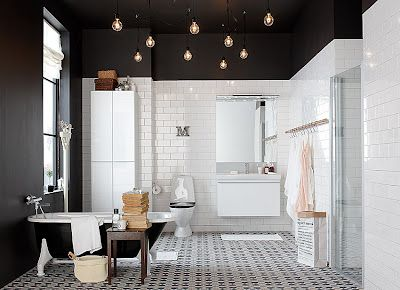 A perfect black and white bathroom. design pinterest badkamer