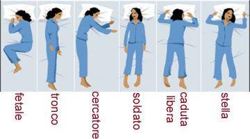 il significato delle posizioni in cui dormiamo - Posizioni..