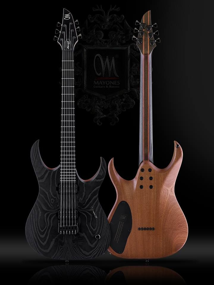 Mayones Duvell Elite Gothic 6 — with Seymour Duncan, Luminlay, SIT ...