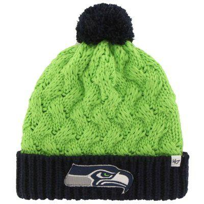 337c3455d Seattle Seahawks  47 Brand Women s Matterhorn Cuffed Knit Beanie ...