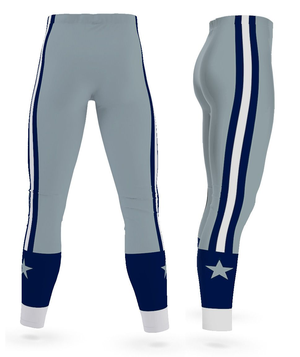 197b5f9444 Texas Dallas Cowboys leggings for men uniform NFL Football exercise pants  running tights