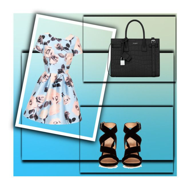"""""""Cute"""" by feliciy15 on Polyvore featuring Chi Chi, Gianvito Rossi and Yves Saint Laurent"""