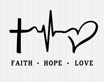 Download Faith Hope Love SVG File, SVG Cutting File, Cricut SVG ...