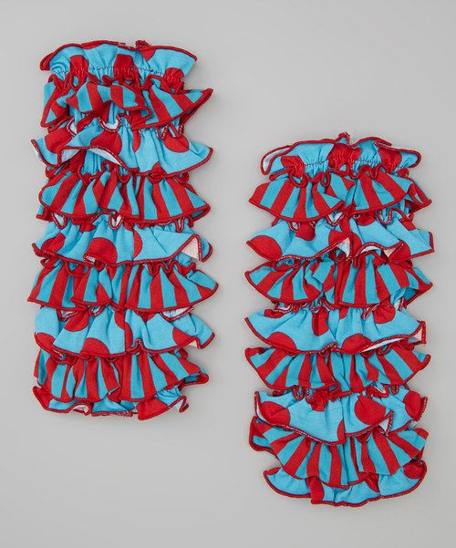For crawling cutie-pies and wee walkers, these leg warmers help to protect and pad their knees, where they need soft support the most. Stretchy cotton-blend fabric keeps little legs nice and cozy, not to mention adorably decorated.97% cotton / 3% spandex