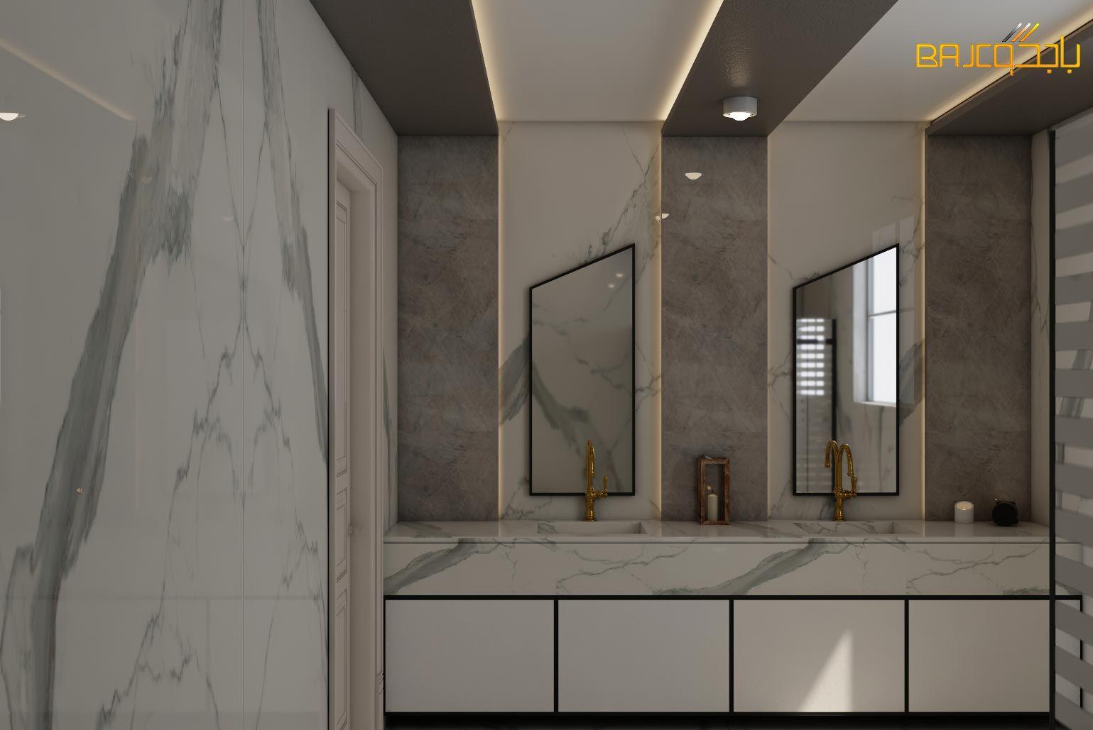 مغاسل رخام Interior Design Lighted Bathroom Mirror Design